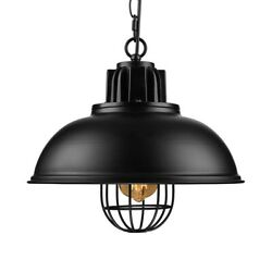 Industrial Style Metal Cage Shade Chandelier Pendant Light Kitchen Ceiling Lamp $49.99