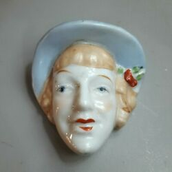 Porcelain Womens Face Planter Wall Mounted Quality Guaranteed Japan Vintage Head