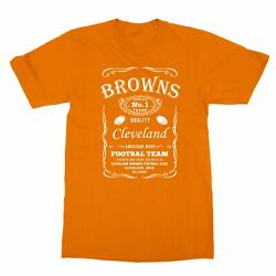 Cleveland Browns JD Whisky Football Whiskey Cool Men#x27;s T Shirt $12.49