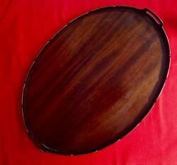 Early To Mid 19th Century Wooden Galleried Butlers Tray Fretworked Gallery