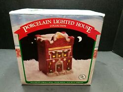 1990 Mercuries amp; Associates Hand Painted Porcelain Commercial Bank NEW IN BOX