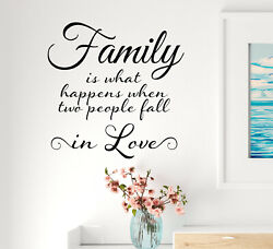 Vinyl Wall Decal Inspiring Quote Family Home Stickers 22.5 in x 22.5 in gz306 $21.00