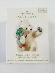Hallmark Keepsake Ornament 2011 SNAP HAPPY FRIENDS Snowball and Tuxedo #11   B4