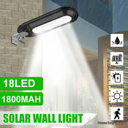 Outdoor Commercial 18 LED Solar Street Light IP55 Waterproof Dusk to Dawn Lamp $17.98