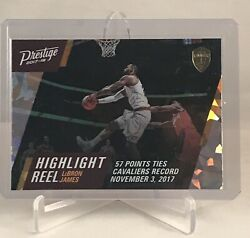 2017 18 Panini Prestige Highlight Reel LeBron James Crystal #4 Cleveland Cavs $25.00