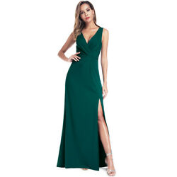Ever-Pretty US V-neck Long Evening Prom Dress Split Cocktail Holiday Party Gowns $22.99