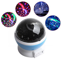 Starry Night Sky Projector Lamp Moon Star Light Rotating Cosmos For Kids Gift