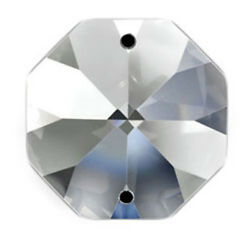 Set of 96 18 mm Clear Asfour Crystal 1080 Octagon Crystal Prisms 2 Hole $19.20