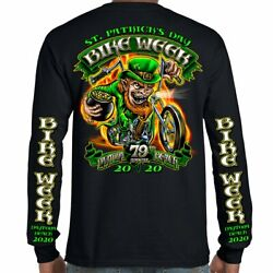 2020 Bike Week Daytona Beach Fiery Leprechaun Long Sleeve Shirt $11.24