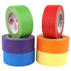 Colored Masking Tape Craft Tape Art Painters Tape Writable Coding Label 24mmx12m $10.29