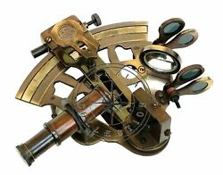 Antique Brass Working Marine Sextant Collectible Vintage Nautical Ship Astrolabe $25.50