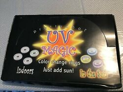 36 Pretty Cool UV Magic Color Change Toe Rings Just add sun Plus free gift $8.89