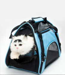 New Pet Carrier Soft Sided Puppy Kitten Cat Dog Tote Bag Travel Airline Approved $14.96