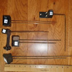 1 Only Chime Rods With Cast Iron Base Choose A B C D or F Antique Parts $7.99