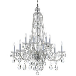 Crystorama 1112-CH-CL-SAQ Traditional Crystal Spectra Crystal Chandelier