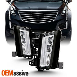 Fits 2017 18 2019 Cadillac XT5 Chrome Full LED DRL Tube Fog Lights Complete Set $126.96