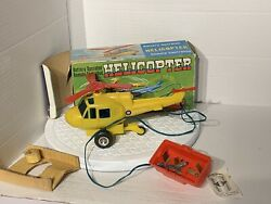 Vintage Rare Marx Remote Helicopter with Original Box GBP 22.99