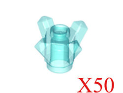 Lego Trans-Light Blue Rock 1 x 1 Crystal 4 Point Parts Pieces Lot of 50 $13.95