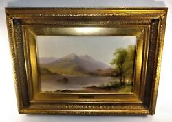Painting Alfred George Coleman Oil on Board Framed w Plaque Listed Landscape $995.00