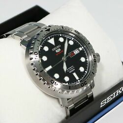 Seiko 5 Bottle Cap Automatic Stainless Steel Men#x27;s Watch SRPC61K1 $179.99