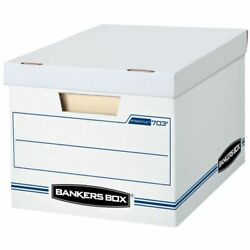 Bankers Box Stor File 15quot; x 12quot; x 10quot; Basic Strength Storage Boxes 10 Pk $26.17
