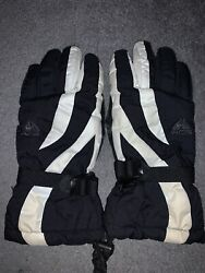 Nike ACG Winter Unisex Waterproof Gloves Size M 150 Grams Black And White Used $15.00