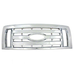 New Chrome Grill Grille Overlay Insert for 2009-2012 Ford F150 XL STX FX4