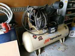 USED INGERSOLL RAND AIR COMPRESSOR 7100E15 2 stage 15HP 120 gal. 175psi $2990.00