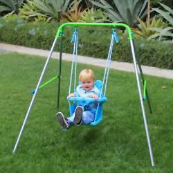 Sportspower Indoor Outdoor My First Toddler Swing Foldable Frame Blue $40.91