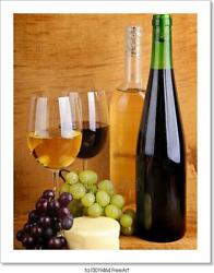 Cheese And Wine Art Canvas Print. Poster Wall Art Home Decor C $46.95