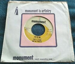 Tony amp; Terri amp; the Pirates For No One Beatles Back on My Feet Again 45 VG $6.99