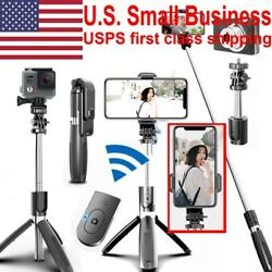 Selfie Stick Stand Tripod Bluetooth Remote 360°Rotation For GoPro iPhone Samsung $10.49