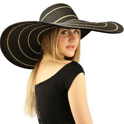Summer Elegant Derby Big Super Wide Brim 8quot; Brim Floppy Sun Beach Dress Hat $35.99