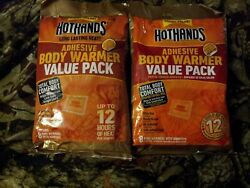 2 packs  of 8 body warmers hothands adhesive $15.00