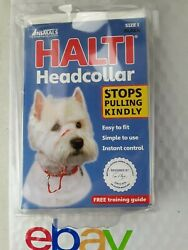 HALTI The Company Of Animals Dog Headcollar Size 1 Black Stops Pulling Kindly $12.99