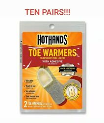 HotHands Toe Warmers Long Lasting Odorless Air Activated Warmers 10 Pairs $11.00