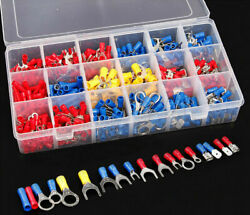 520 PCS Insulated Electrical Wire Splice Terminal Spade Crimp Ring Connector Kit $14.25