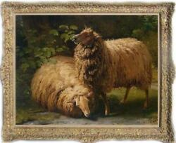 Hand painted Old Master Art Antique Oil Painting animal sheep on canvas 30quot;X40quot; $550.00