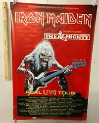 HUGE SUBWAY POSTER Iron Maiden Plus Special Guests The Almighty Real Live Tour $299.95