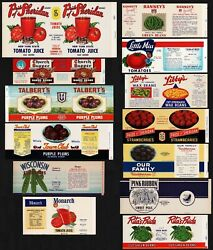 Vintage labels CANNING Lot of 13 different Libbys Talberts Little Miss unused $13.49