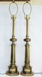 Pair of Hollywood Regency Style Palace Size Brass Stiffel Lamps 37#x27;#x27;H $375.00
