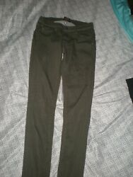 Womens Size 26 Low-rise Waist Skinny Olive Green Jeans by Genetic Denim $2.99