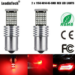 2 x CANBUS 1156 Error Free Red 7506 P21W LED Bulbs Backup Reverse Tail Lights $4.49