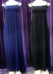 WOMEN FASHION LONG DRESSES IN BLACK OR NAVY BLUE COLOR $21.24