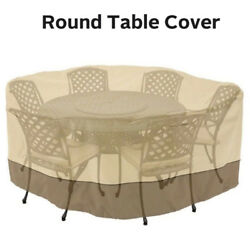94quot; Round Table Chair Cover Waterproof Outdoor Large Patio Furniture Protection $32.69