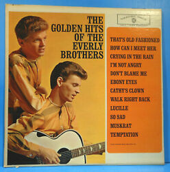 GOLDEN HITS OF THE EVERLY BROTHERS 1962 MONO ORIGINAL NICE CONDITION! VGVG++!!B $9.99