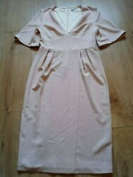 NWOT Loaded Blush Pink Wrapover Style Summer Wedding Occasion Dress - Size 10 $11.25