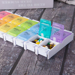 14Grids Daily Pill Box Tablet Organizer Weekly Pill Case 7days Tablet Container $14.89