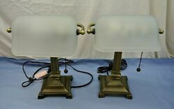 PAIR MATCHING DESK LAMPS HAMPTON BAY $34.99