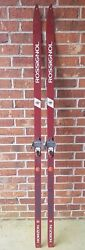 VINTAGE ROSSIGNOL Cross Country Skis74quot; 188 cm W Rottefella 75 mm Bindings $34.99